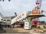 Finished installation of one set mobile concrete mixing plant in South America
