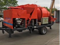 Delivery one set diesel engine concrete mixer with pump