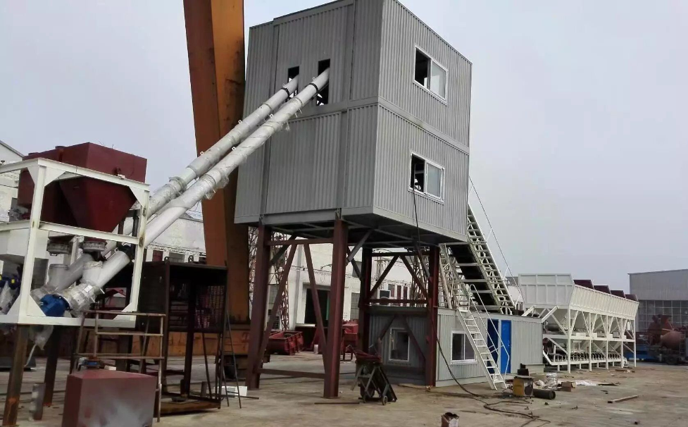Container type batching plant ready for delivery