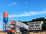YHZS75 Mobile Concrete Batching Plant in the philipines