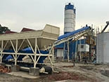 90m3/h Concrete Batching Plant installed in the Philippines