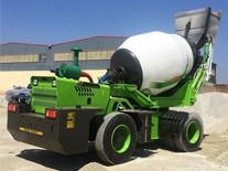 The self loading concrete mixer truck is more than one car