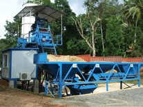 HZS35 concrete mixing plant installed in Bangladesh